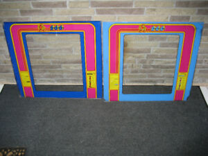 Midway Ms Pacman Original Arcade Game Glass Monitor Bezels