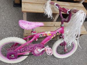 "Kids 14"" Pink Disney Princess Bicycle For Sale"