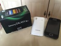 Samsung Galaxy Ace mobile phone boxed