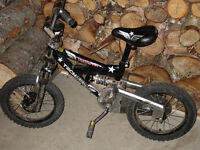Dual shocks kids bike like new.
