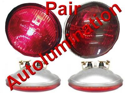 New 4416-R Red 12 Volt Par36 Sealed Beam Bulb 4416 ST-Red Spotlight 4-1/2 4416R Beam 12 Volt Spotlight