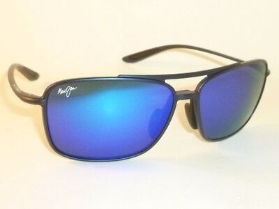 Authentic Polarized MAUI JIM  KAUPO GAP Sunglasses Matte Blue B437-03M Blue (Blue Lens Sunglasses Polarized)