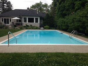 POOL Painting and repair concrete Commercial and Residential Kitchener / Waterloo Kitchener Area image 2