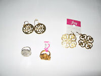 Foxy Jewelry mixed lot earrings rings New and Used