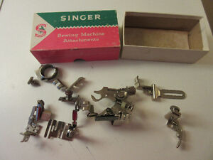 Antique, Vintage Singer buttonhole and sewing attachments