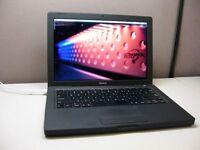 "Black Limited Edition 13"" Apple MacBook 2Ghz 4GB 500GB Microsoft Office Suite Logic Final Cut Pro"