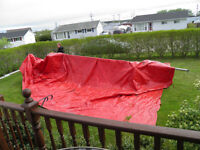 Heavy duty tarp for 23 ft Sailboat
