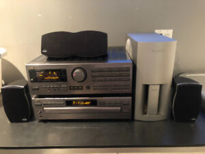 JVC STEREO SYSTEM Receiver CD PLAYER Athena Speakers SONY SUB$80