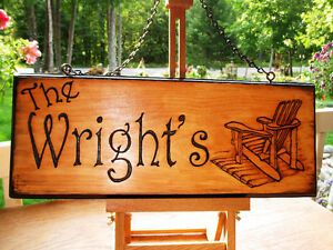 Custom hand carved personalized wood sign Peterborough Peterborough Area image 5