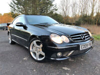 2009 09 PLATE MERCEDES-BENZ CLK 220 2.2 TD CDI AUTO SPORT COUPE IN BLACK AMG