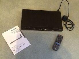 Panasonic DVD/CD Player With Remote & Manual.
