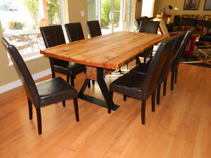 Live Edge Dinning Room Table YEW MAPLE
