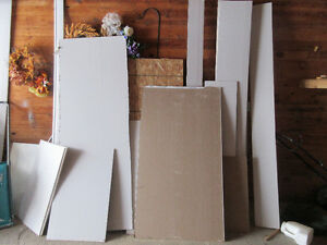 various sizes of drywall
