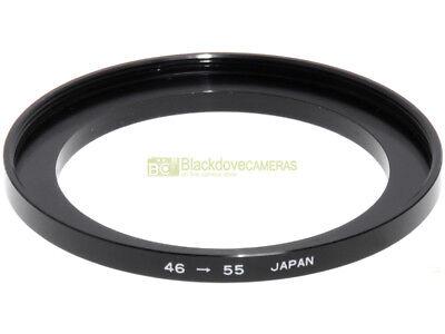 Anello adattatore step up 46/55mm. x montare filtri 55mm. su obiettivi diam. 46