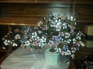 Oriental Glass Cherry Blossom Bonsai Trees