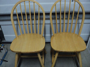 """CHAIRS!! (3)""""HONEY"""" COLOURED  ~ (2) ALL WOOD """"LIGHT COLOURED"""" Windsor Region Ontario image 4"""