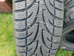 4.....215/65/15 winter tires in excellent condition 10/32 tread