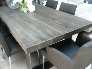Custom Made Steel Leg Dining Tables
