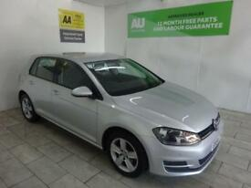 SILVER VOLKSWAGEN GOLF 1.6 MATCH TDI BLUEMOTION TECH DSG **from £215 per month**