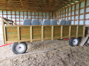 Custom build hay ride wagon never used