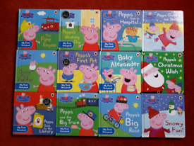 Peppa pig books, set of 9 plus 3 winter/Christmas specials