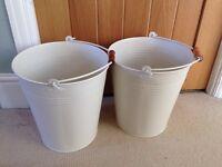 2 x cream buckets