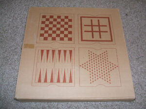 5-in1 wooden games -by AVON Expressions-New in Box-Rare find! London Ontario image 2