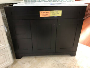 vanity cabinets Espresso demos on CLEARANCE!!