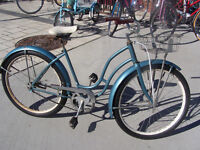 1940s Womens Cruiser w/Basket and Oversize Baloon Tires