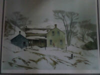 A.J.Casson signed prints