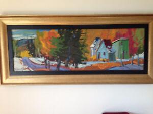 huile , Dernière maison du rang. 12 x36