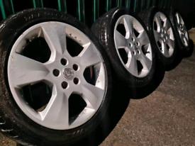 "17"" Vauxhall Alloy wheels and tyres 5x110 Corsa Astra Vectra Zafira"
