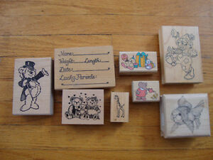 Misc.Rubber Stamps (8) for cardmaking/scrapbooking