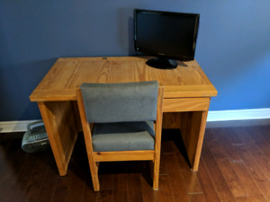 Crate Designs Solid Wood Desk And Chair