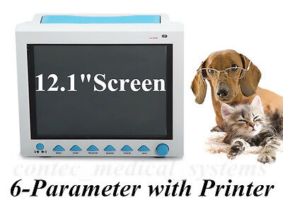 Cms8000 Vet 6-parameter Veterinary Icu Vital Signs Patient Monitor With Printer