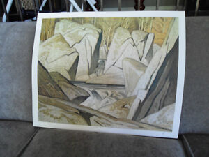 A.J. CASSON, Group of Seven SIGNED LTD Ed Rock Cluster Madawaska