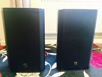 "EV ZLX electro voice 15"" pair of actives with covers"
