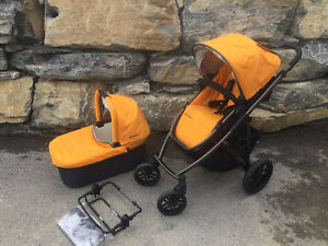 2014 Uppa Baby Vista with bassinet and peg perego seat adaptor