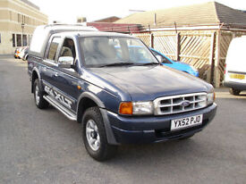Ford Ranger 2.5TD Diesel 4X4 Pick Up XLT Double Cab