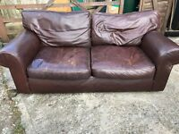 Marks and spencer leather 3 seater sofa