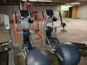 Precor 835 Commercial Elliptical-MOVING ARMS & INCLINE-Clearance