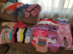 Bulk of 6-12 months baby girl clothes
