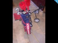 Donnay golf club as and bag with trolly