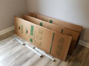 3 Used Large U-HAUL Wardrobe Box for sale