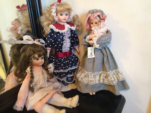 Older but loved  Porcelain dolls