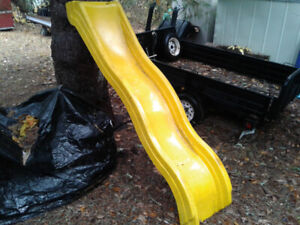 For Sale-yellow play structure slide