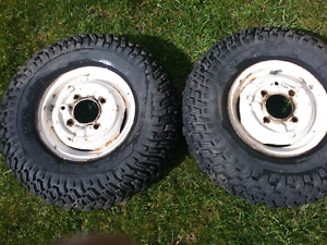 "2 10""  4x100mm utility wheels with 6.7"" tires."