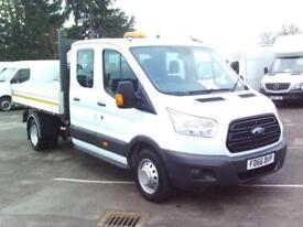Ford Transit T350 D/CAB 125PS TIPPER DIESEL MANUAL WHITE (2016)