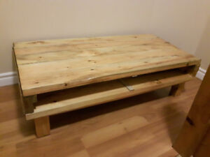 Wood Coffee Table/TV Media Stand