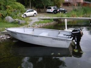 14 Foot aluminum with a 15 horse Merc.4 stroke with trailer